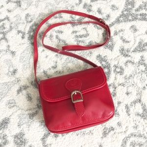 Genuine leather crossbody bag made in Italy